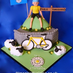 Tour t'Yorkshire - Bicycle Birthday cake - Tour de Yorkshire