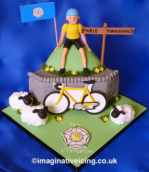 Stupendous Tour Tyorkshire Bicycle Birthday Cake Tour De Yorkshire Funny Birthday Cards Online Overcheapnameinfo