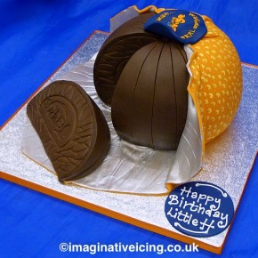 Terry's Chocolate Orange Birthday Cake