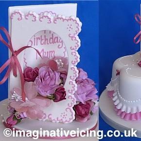 Happy Birthday Mum - Edible Birthday Card - Birthday Cake