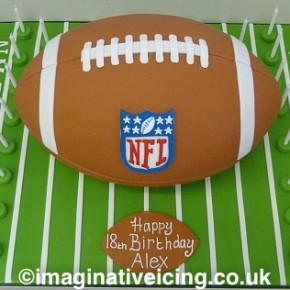 American Football Birthday Cake