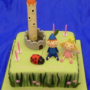 Ben & Holly Childrens Birthday Cake