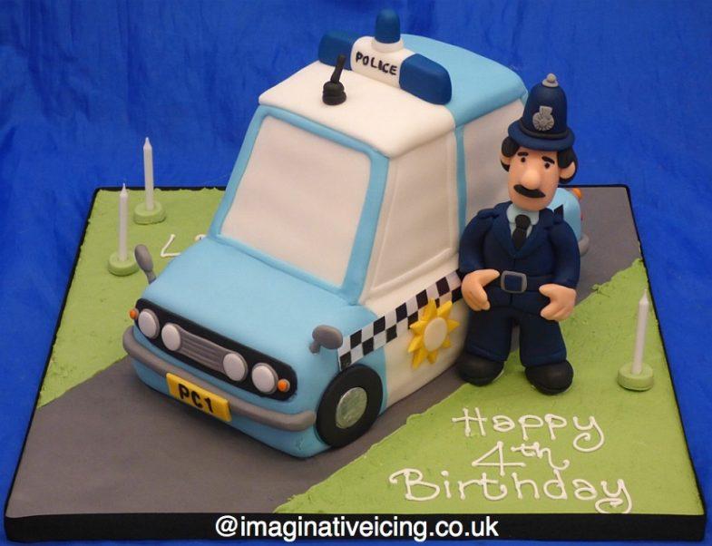 Fine Postman Pat Policeman Cake Constable Selby Imaginative Icing Funny Birthday Cards Online Hendilapandamsfinfo