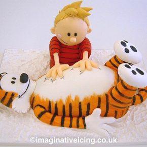Calvin and Hobbes 3D birthday cake