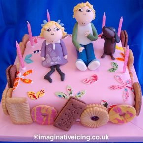 Charlie & Lola Birthday biscuits cake