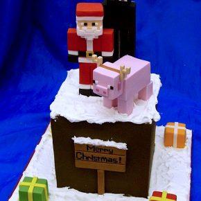 Minecraft Christmas Cake