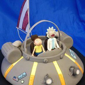 Rick & Morty Spaceship / Flying Car Birthday Cake