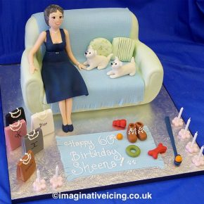 60th Birthday Sofa Cake