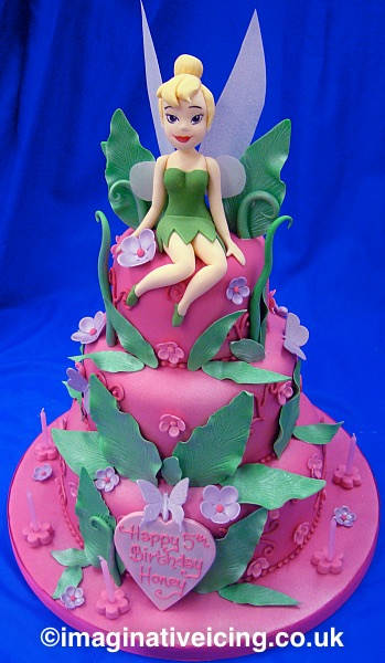Groovy Tinker Bell Birthday Cake Imaginative Icing Cakes Funny Birthday Cards Online Overcheapnameinfo