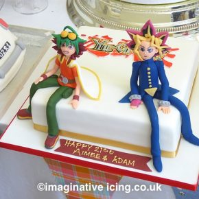 Yuya-Sakaki and Yu-Gi-Oh! Birthday Cake