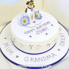 Great Granny's Jack Russel Birthday Cake