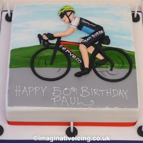 Road Cyclist Birthday Cake