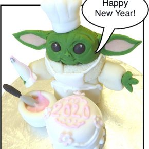 Happy New Year! - 'Baby Yoda' Bakes a Cake to welcome in the 2020's