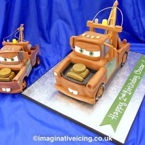 3D Tow Truck Birthday Cake - Mater from the Movie 'Cars'