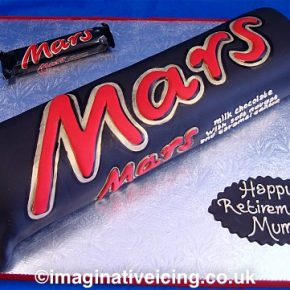 Supersized Mars Bar Celebration Cake