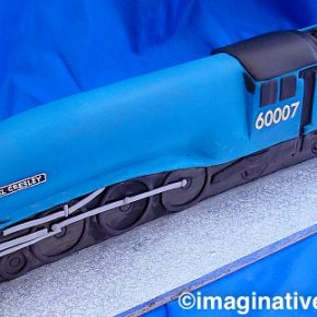 Sir Nigel Gresley Locomotive & Coal Tender Cake
