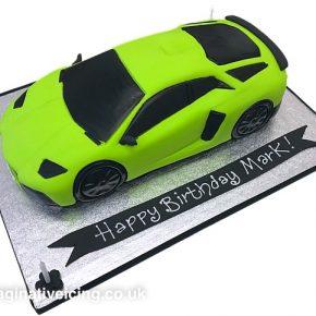 Bright Green Lamborghini Aventador