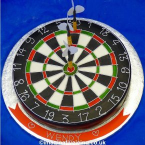 "Dartboard Birthday Cake ""Let's Play Darts!"""