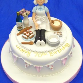 Granny Baker Birthday Cake with bunting