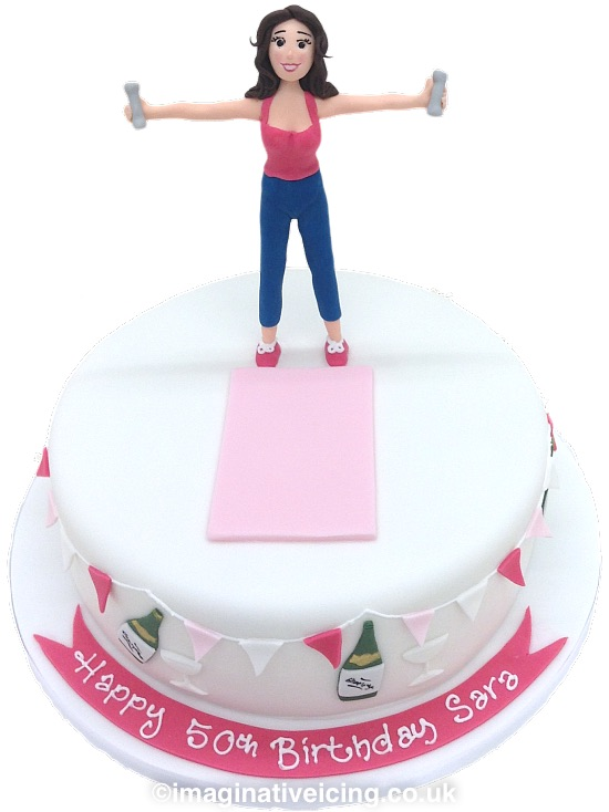 Peachy Keeping Fit At 50 Birthday Cake Imaginative Icing Cakes Funny Birthday Cards Online Inifodamsfinfo