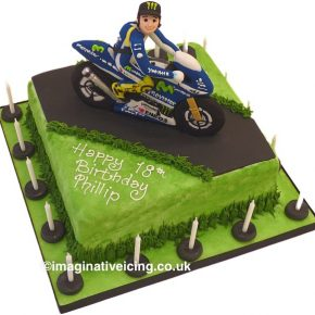 Motorbike Racing birthday cake
