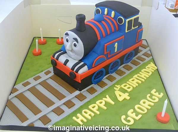 Thomas the Tank Engine birthday cake - Thomas has been a children's favourite for several decades now and will continue to do so. There is something timeless about the sight of a steam train that fascinates and delights both the young and the old :)