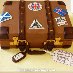 Vintage Suitcase Travel Luggage cake